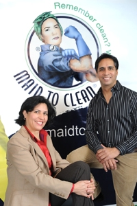 Green cleaning maid service management team at Maid to Clean